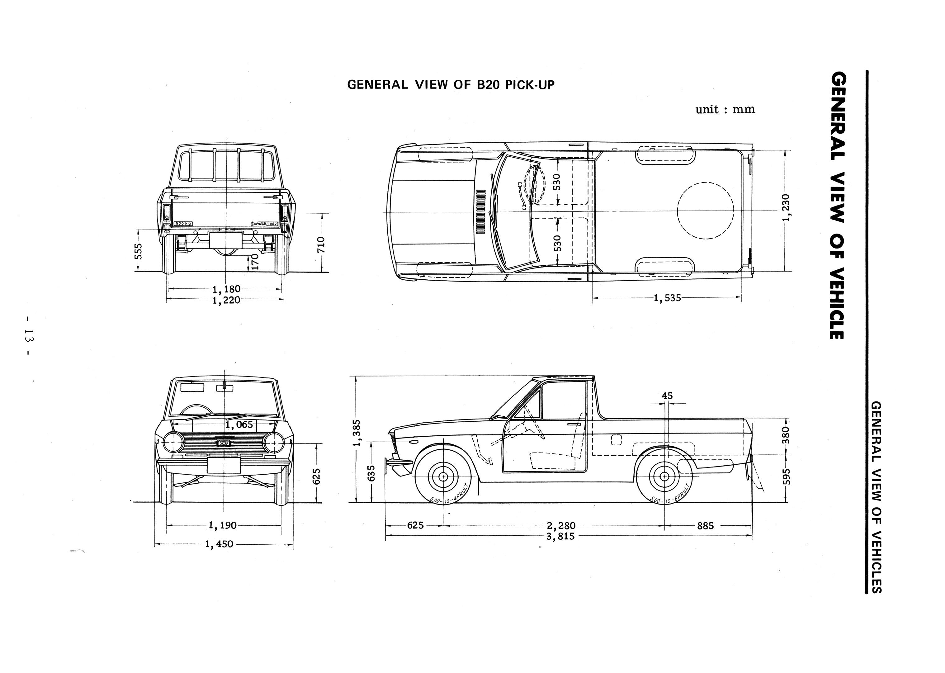 Downloads Datsun 1000 2000 Wiring Diagram Pickup B20